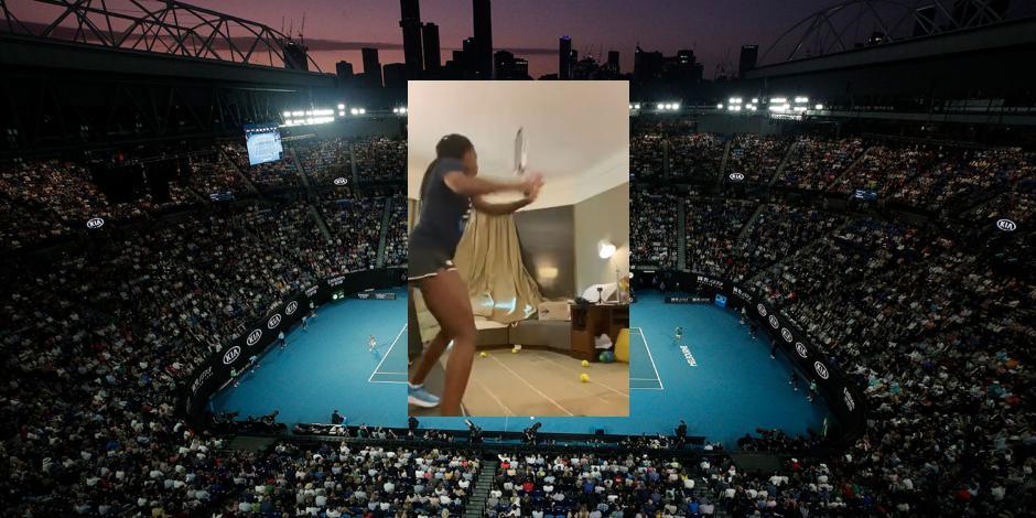 VIDEO_ Tenistas entrenan en sus cuartos, ante aislamiento previo al Australia Open