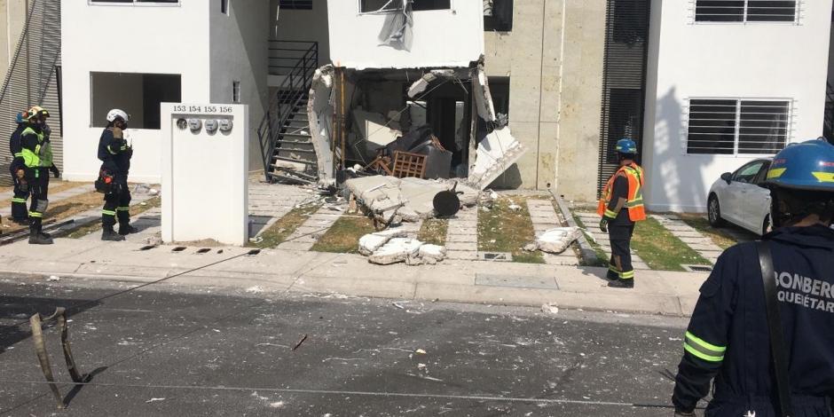 Explota casa en El Marqués, Querétaro