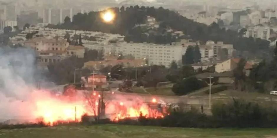VIDEO_ Aficionados del Marsella provocan incendios y caos previo al juego ante Rennes