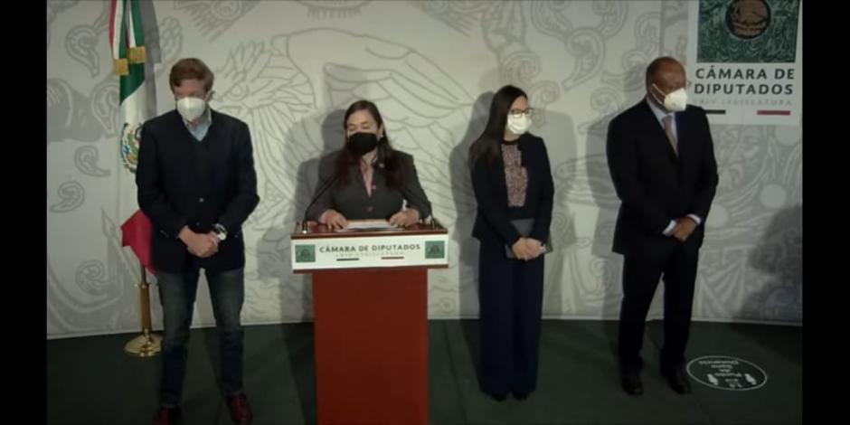 Diputados del PAN, PRI y PRD
