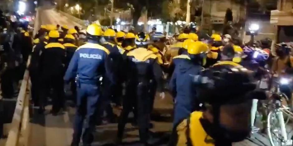 policias-ciclistas-Periférico-segundo piso-