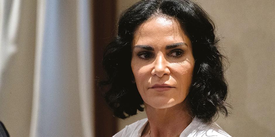 Lydia Cacho, comunicadora, en una conferencia, en agosto de 2018.