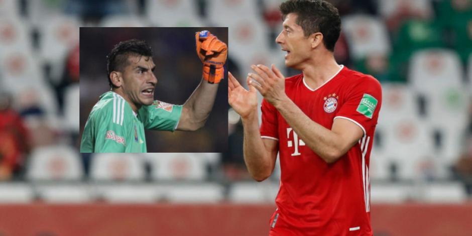 VIDEO_ Nahuel le reclama a Lewandowski por su mano, al final del partido