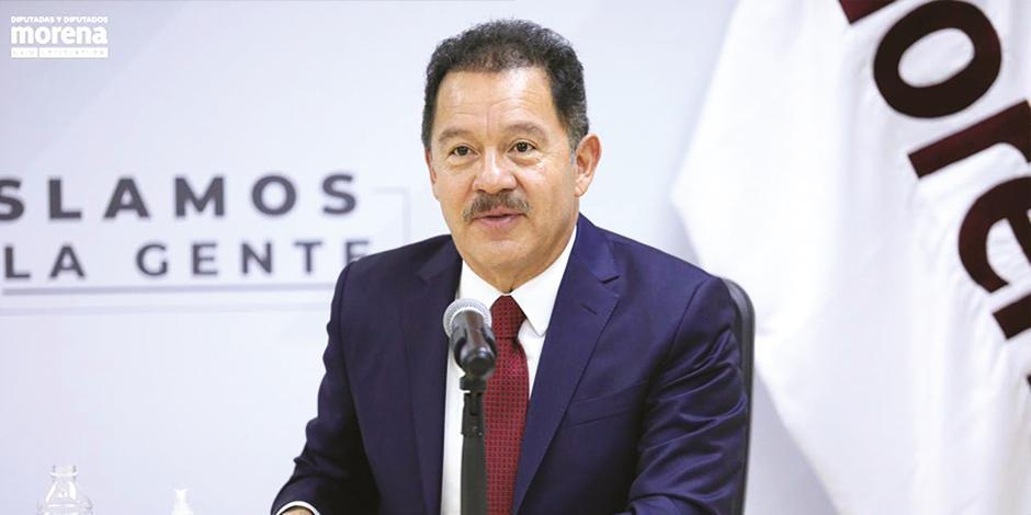 Ignacio Mier, coordinador de Morena en la Cámara de Diputados, en foto de archivo.