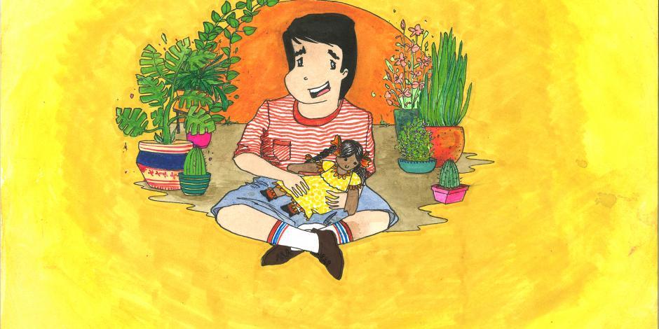 Pepito juega con una muñeca libro
