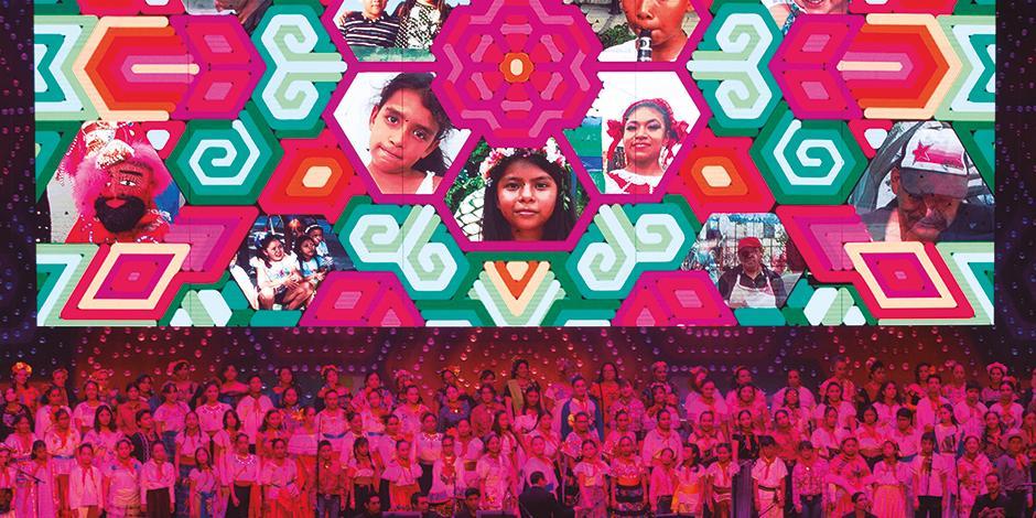 Menores, durante el concierto Tengo un sueño, del programa Cultura Comunitaria.