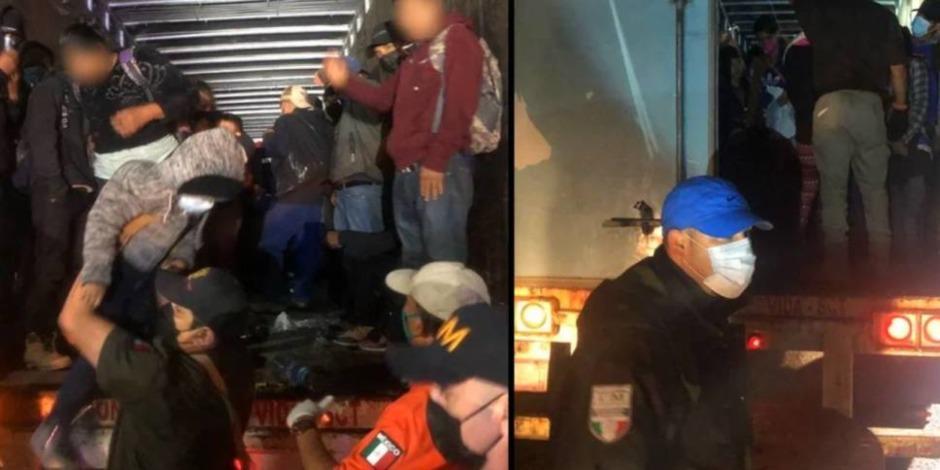 Rescatan a 201 migrantes que viajaban hacinados en un tráiler en Chiapas