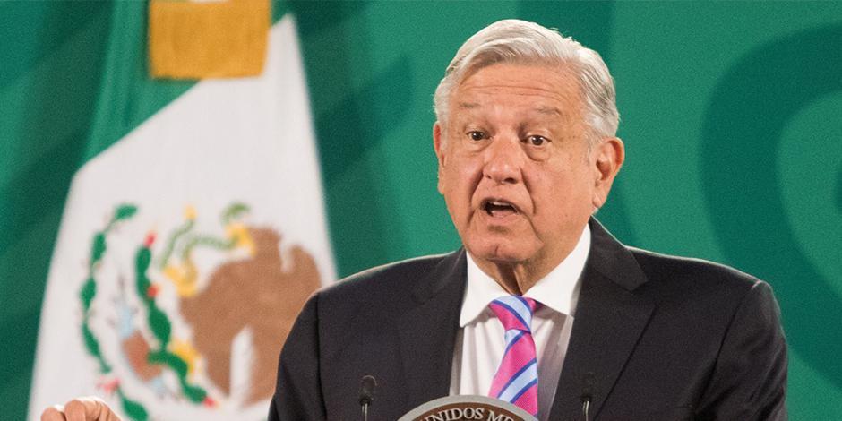López Obrador, en conferencia de prensa matutina, ayer.