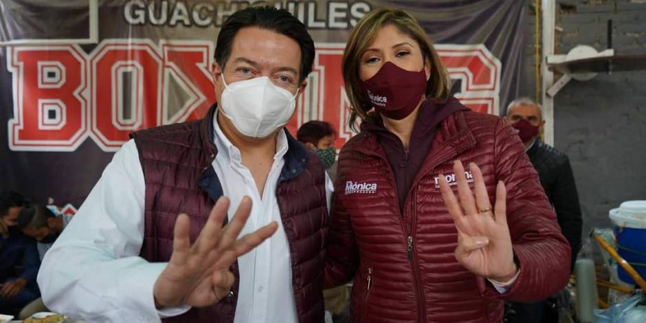 Mario delgado y Mónica Rangel