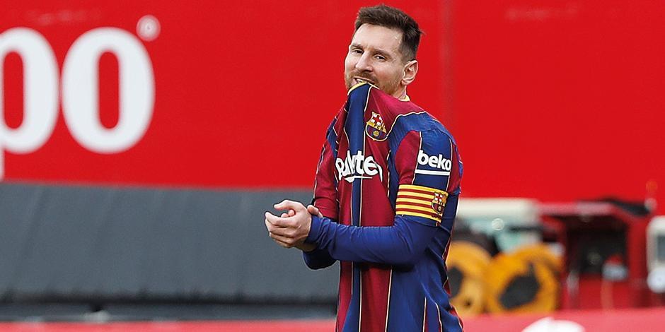 Lionel messi se lamenta de una derrota durante la actual temporada de LaLiga.