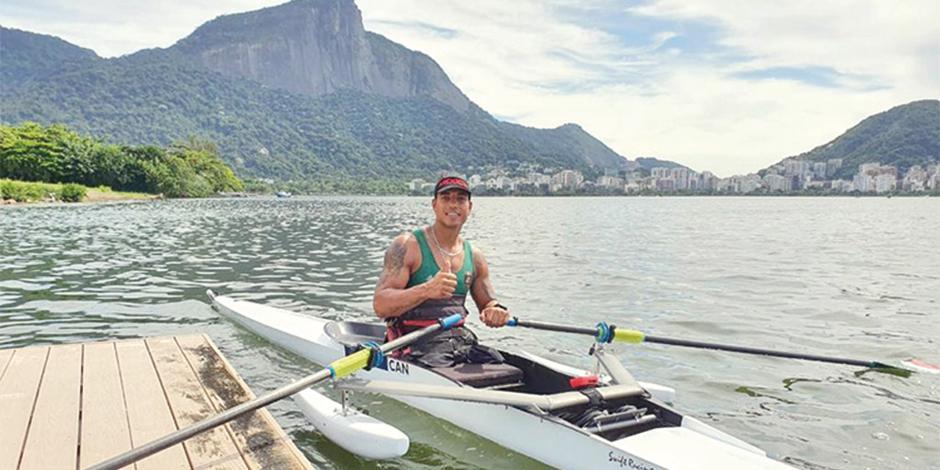 El deportista, en acción durante el clasificatorio rumbo a Tokio celebrado en Brasil del 4 al 6 de marzo.