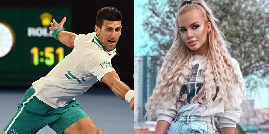 Djokovic y modelo OK