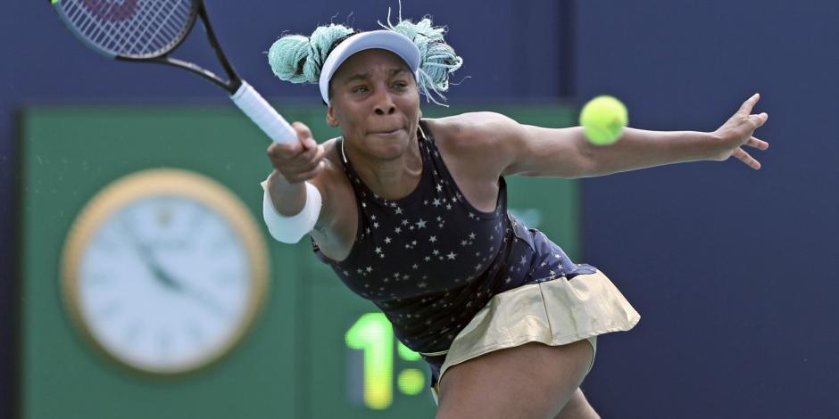 Venus Williams se despide del Abierto de Miami... ¡En la primera ronda!