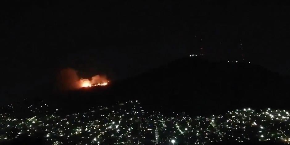 Incendio en el cerro del Chiquihuite.