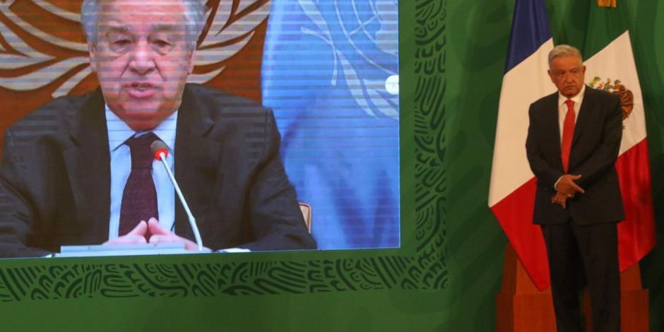 AMLO-António Guterres-ONU