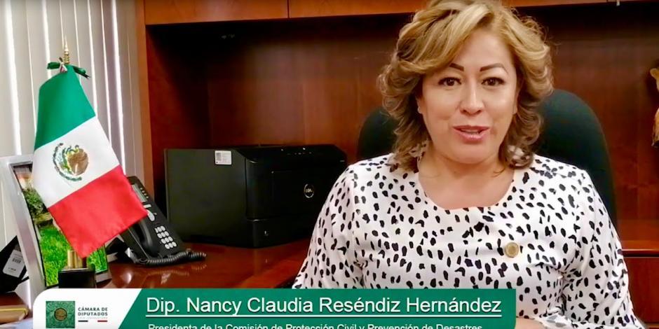 Diputada del PES, Nancy Claudia Reséndiz