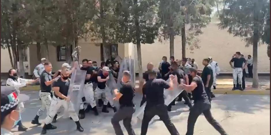 Entrenamiento de Guardia Nacional termina en enfrentamiento