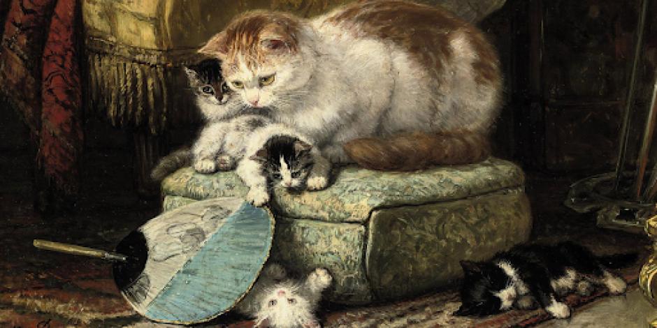 Gatos en la historia del arte.