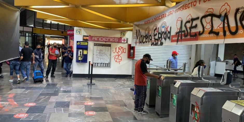 Metro CDMX: Protestan tras caída de vagones de la Línea 12