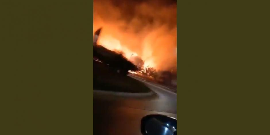 Michoacán: se incendia Cerro de la Cruz en Uruapan