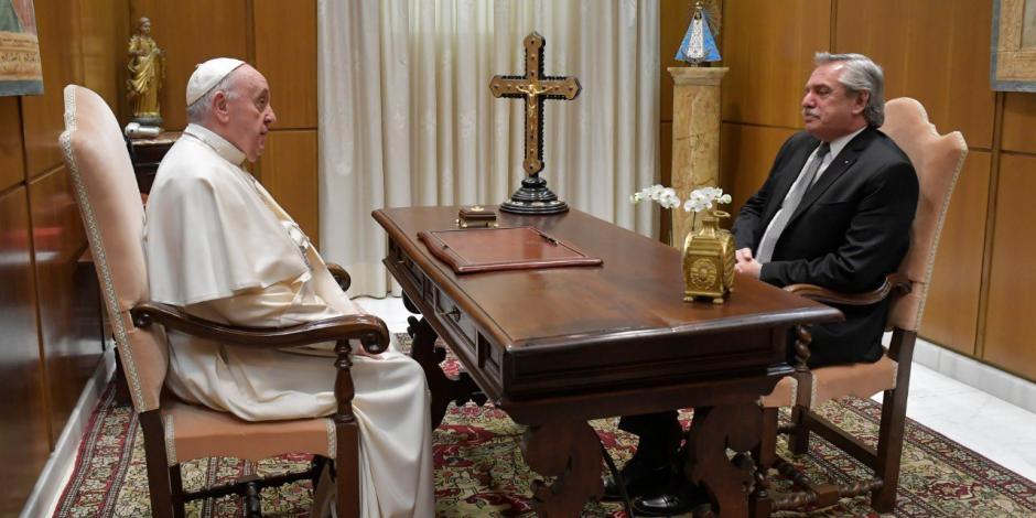 Papa Francisco-presidente de Argentina-Alberto Fernández