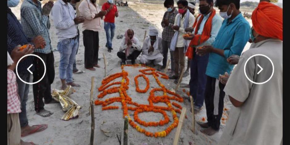 COVID: en India encuentran cuerpos enterrados a un lado de los ríos