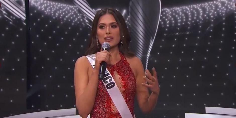 Andrea Meza, Miss México, pasa al TOP 5 de Miss Universo 2021