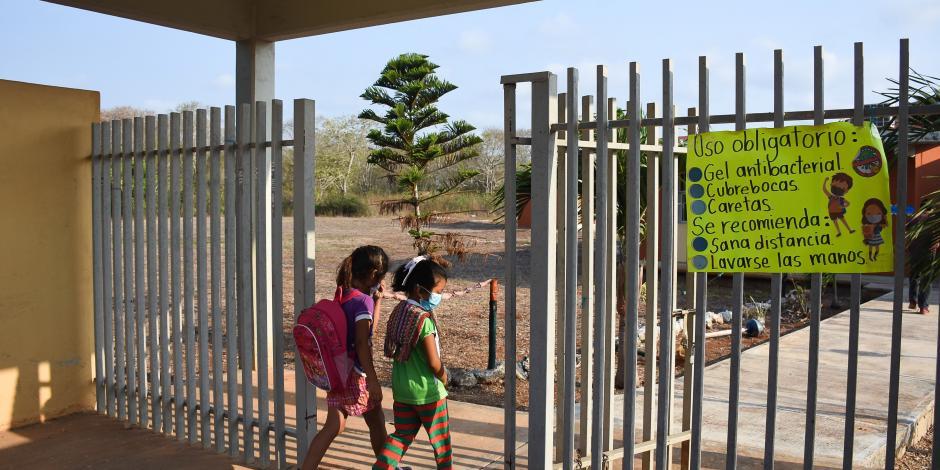 Campeche cerró dos escuelas por contagios, desde que se reabrieron el 19 de abril.
