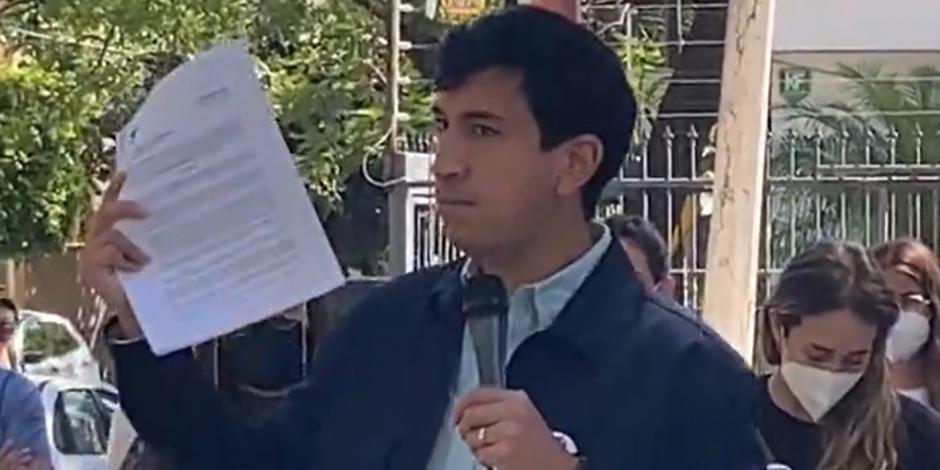Pedro Kumamoto presenta denuncia ante el IEPC por amenazas, hoy.