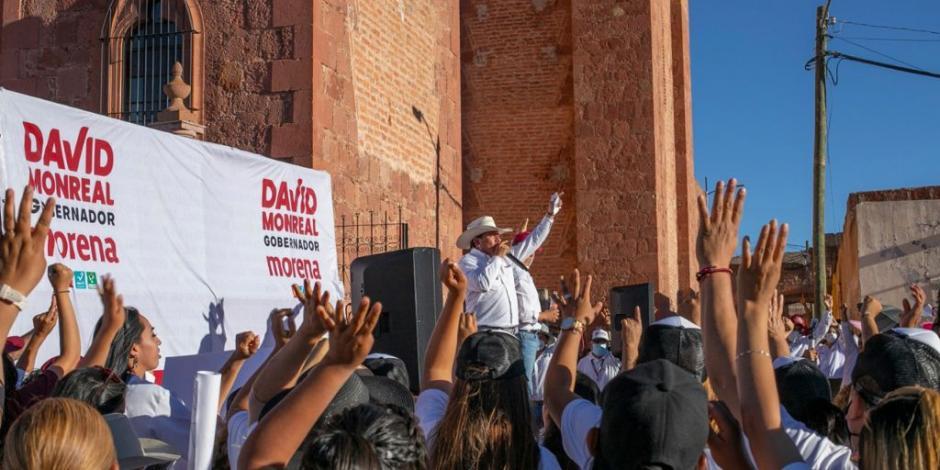 David Monreal en campaña para elecciones 2021