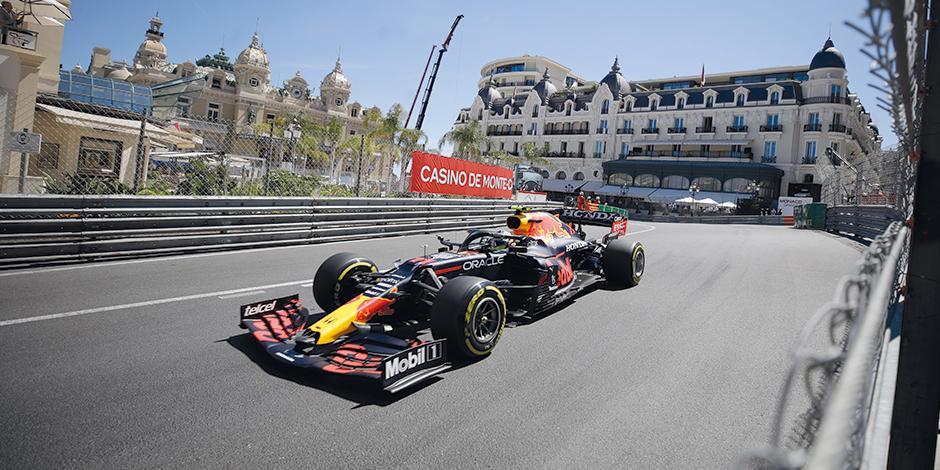 El mexicano en la competencia del Gran Premio de Mónaco el fin de semana.