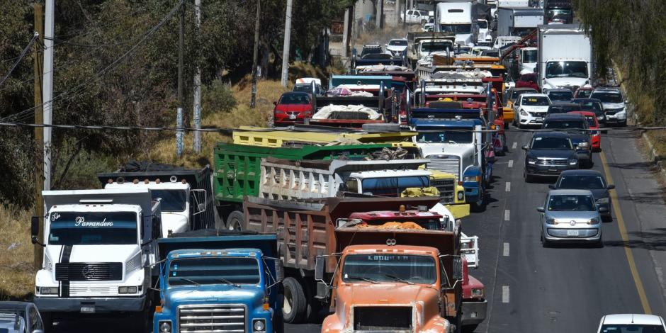 Bloqueo en la carretera México-Toluca