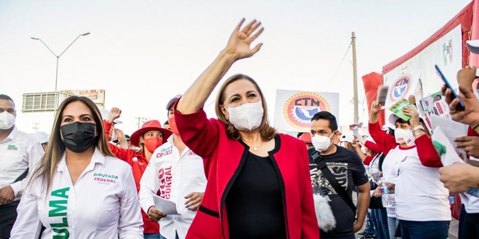 Graciela Ortiz durante un acto de campaña, el jueves.