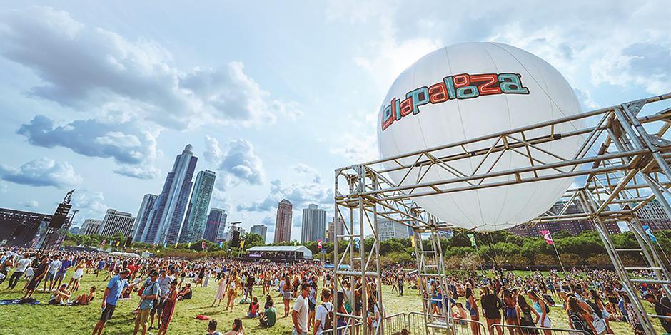 Público, en la edición 2018 del Lollapalooza, en Chicago.