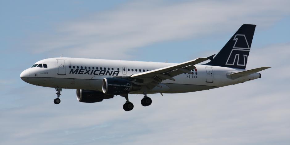 Avión de la aerolínea Mexicana de Aviación, en foto de archivo.