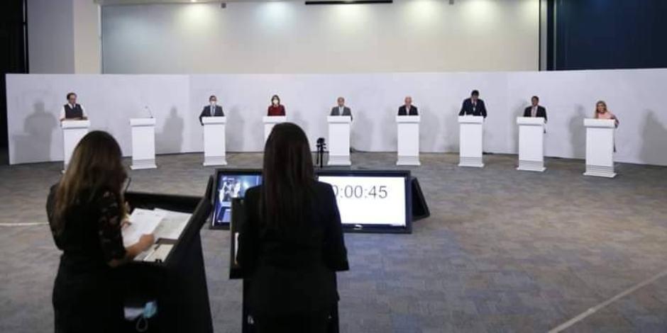 Último debate entre aspirantes a la gubernatura de San Luis Potosí.