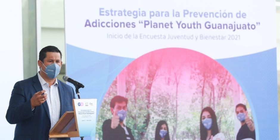 Diego Sinhue, gobernador de Guanajuato, pide erradicar consumo de drogas