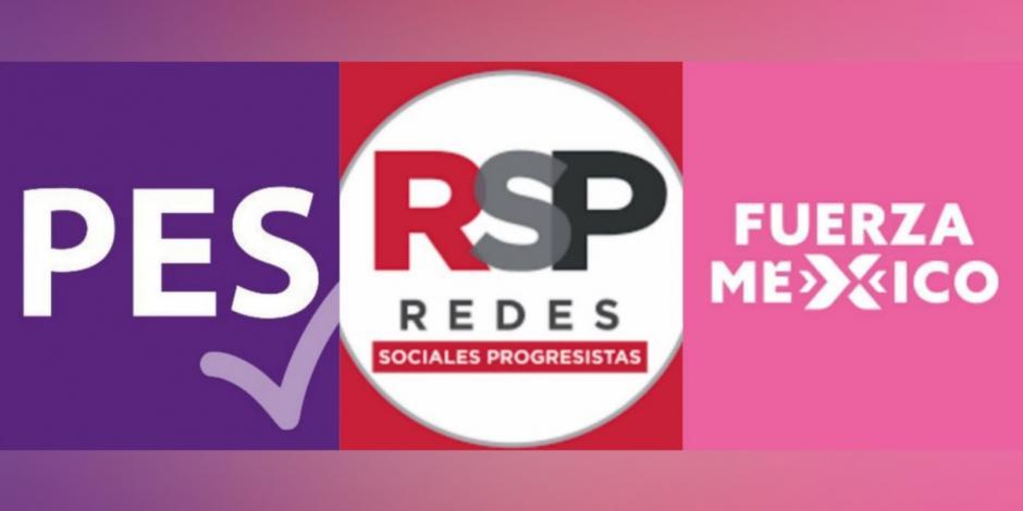 PES, RSP y Fuerza por México