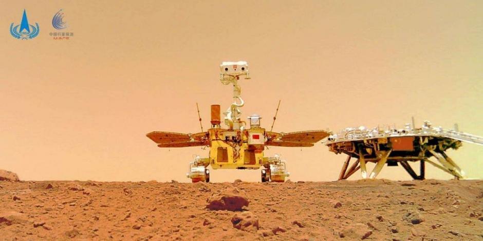Robot China se toma selfie en Marte