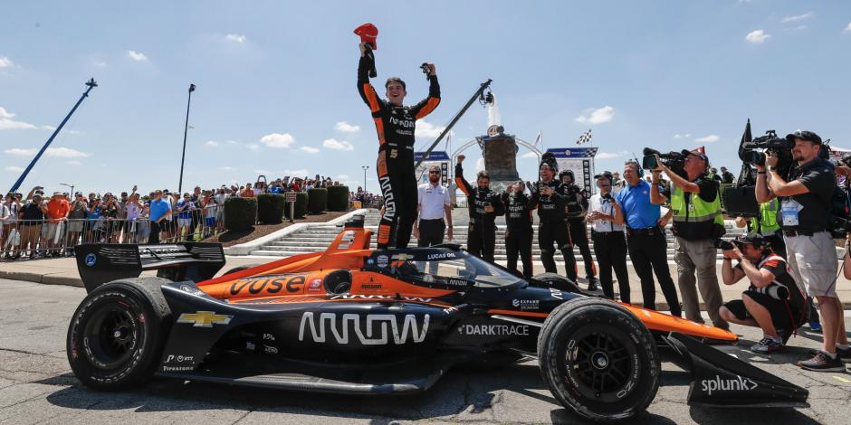 ¡Orgullo mexicano! Pato O'Ward triunfa en el GP de Detroit; su segunda del año