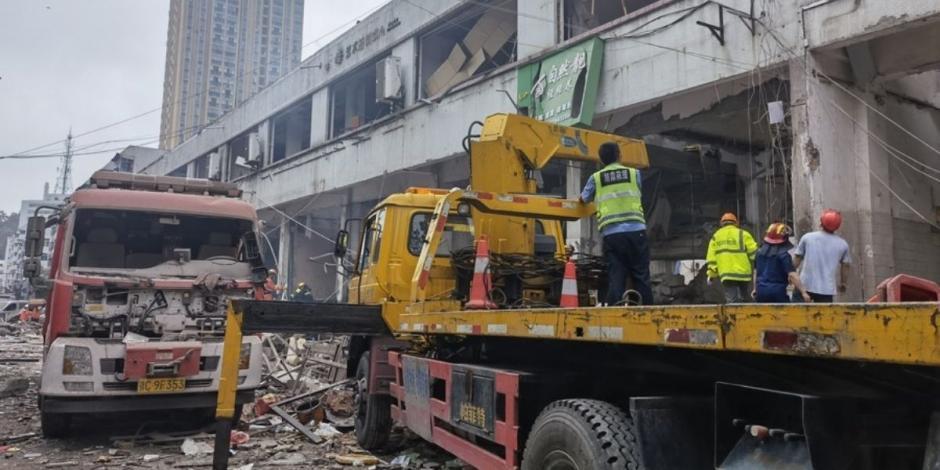 Explosión de gas en China