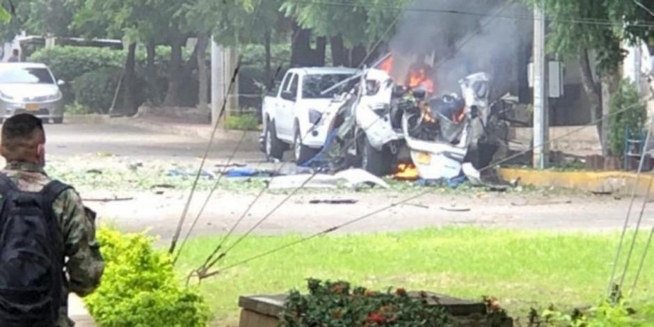 coche bomba Colombia, base militar de Cúcuta