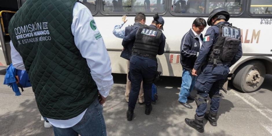 Policías transporte público Estado de México (Edomex)