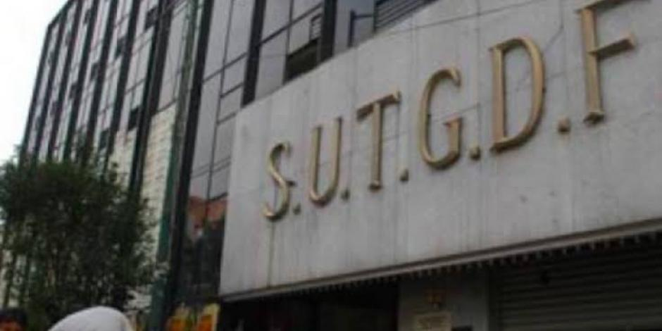 Oficinas del SUTGCDMX en foto de archivo.