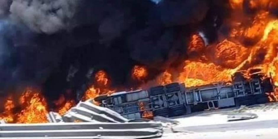 Pipa de gas explota en Tijuana