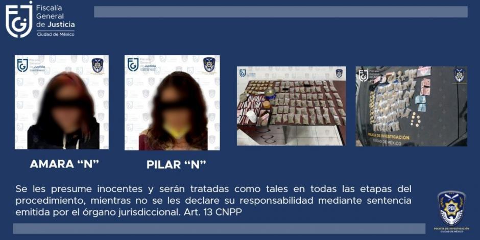 Policía detiene a dos mujeres por portar droga afuera del Senado