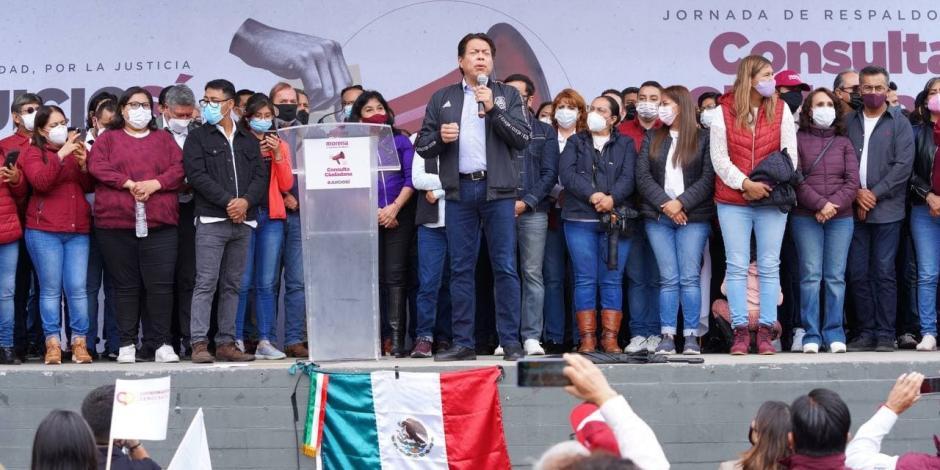 """Morena pone en marcha las """"brigadas por la justicia"""" para promover la consulta popular; acusa al INE de obstaculizarla"""