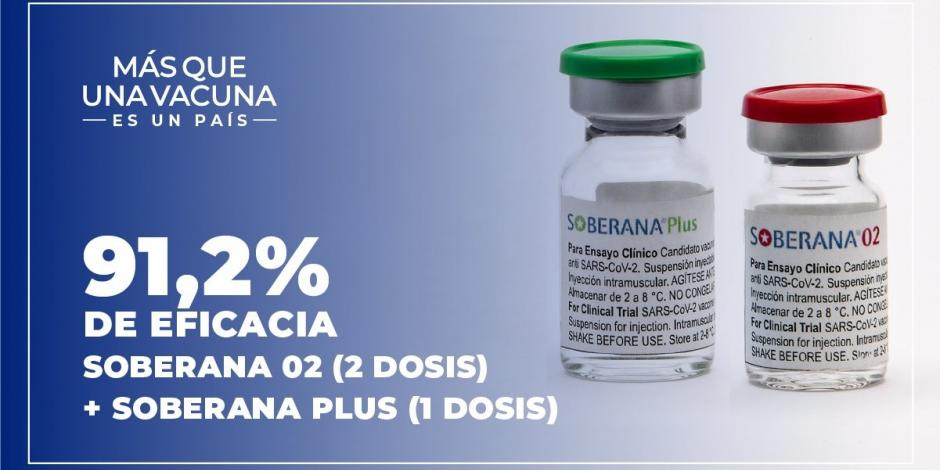 Vacuna Soberana 02 y Soberana Plus