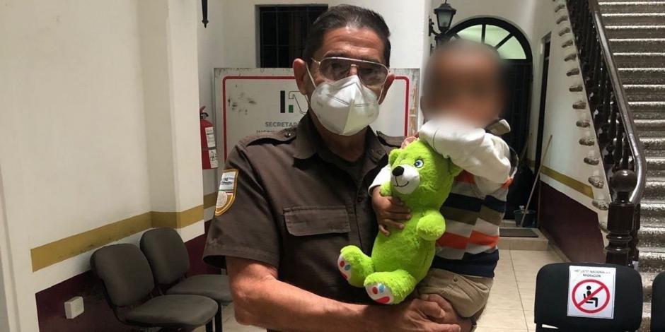 INM Bebé abandonado en Veracruz