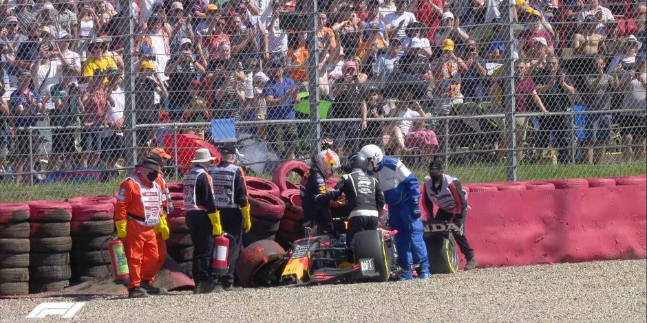 VIDEO: El brutal choque de Verstappen con Hamilton en el GP de Gran Bretaña de F1
